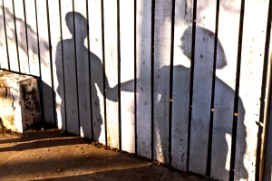 shadows created by parent and child