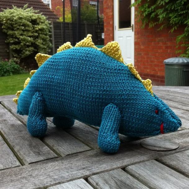 knitted dinosaur